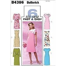 Butterick B4443BB0 - Patrones de costura para vestidos de mujer (tallas 8-14/
