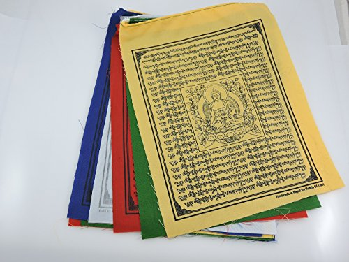 Mains de Médecine Tibet Bouddha Drapeaux de prière tibétains Lot de 10