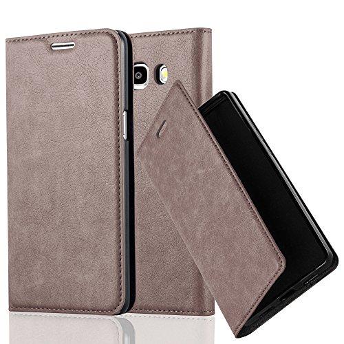 Cadorabo Hülle für Samsung Galaxy J5 2016 (6) - Hülle in Kaffee BRAUN - Handyhülle mit Magnetverschluss, Standfunktion & Kartenfach - Case Cover Schutzhülle Etui Tasche Book Klapp Style