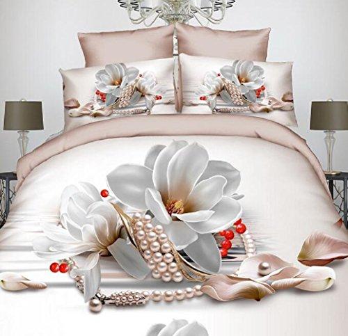 Preisvergleich Produktbild GL&G 3D-Kunst Blume aktive Druck schlicht bequem seidig Qualität vierköpfige Familie,A8,200X230