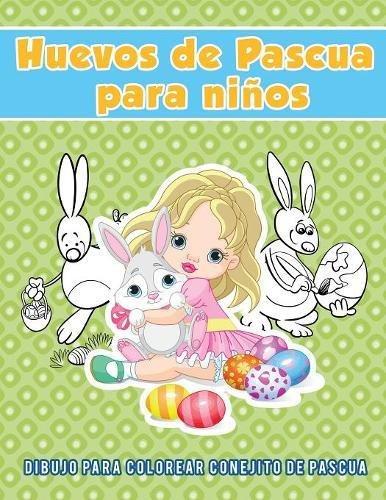 Huevos de Pascua para niños: Dibujo para colorear conejito de pascua