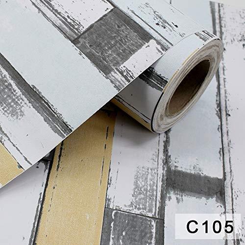 Papier peint auto-adhésif épais brique rétro modèle salon chambre à coucher porche fond papier peint C105 60CM