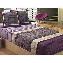 LaNovenaNube - Edredón Ajustable MIRFA cama 90 - Color Malva