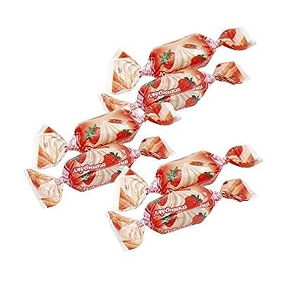 """Hartkaramelle """"Klubnika so slivkami"""" mit Erdbeergeschmack"""