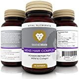 Premium Mens Hair Growth Supplements - Essential Ingredients with MSM & Collagen Nutrients - Best Mens Product to Promote the Regrowth of Healthy, Stronger & Thicker Hair and Combat Hair Loss | 30 Day Ultimate Vital Repair Pills(60 Capsules)