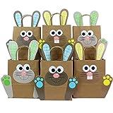 Bolsas XXL para hacer conejitos de Pascua con asas DIY - Bolsas de regalo para la Pascua para rellenar - Para envolver regalos para niños y adultos