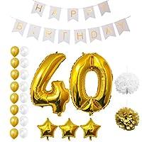Set Palloncini 40° Compleanno da Belle Vous   Questo set di palloncini per compleanno trasformeranno una normale festa di compleanno in quella del secolo; con ben 23 pezzi potrai essere sicuro di organizzare l'evento più memorabile dell'anno...