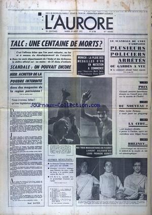 AURORE (L') [No 8706] du 29/08/1972