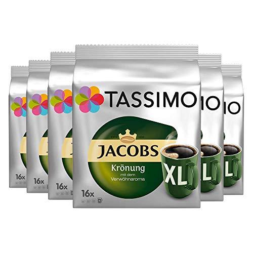 Tassimo Jacobs Krönung XL, 6er Pack (6 x 16 Portionen)