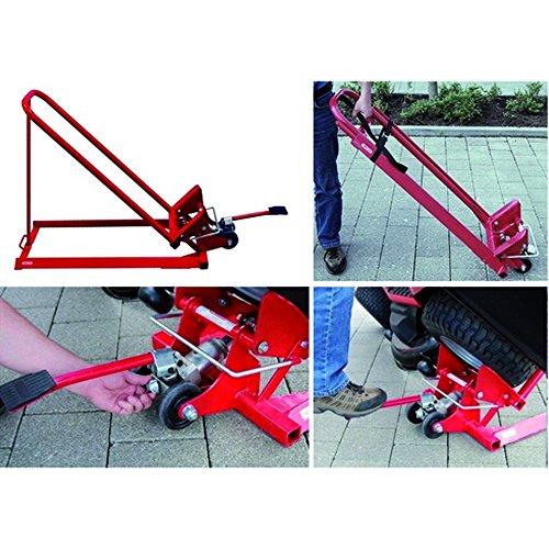 Arnold 6031-X1-0013 Heber für Rasentraktoren und Aufsitzmäher-hydraulisch, Rot