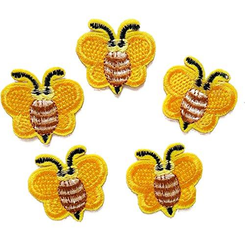 Kostüm Hüte Zum Verkauf - Oyfel Stickerei-Flicken für Kleidung, Aufkleber, Denim-Applikation, Kunst, Basteln, Nähen, Jacken, Kleidung, Hüte, gelbe Biene, 5 Stück