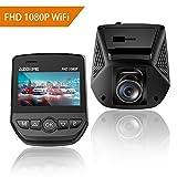 """AZDOME Telecamera per auto Full HD 1080P WiFi, Dash Cam con 2.45"""" schermo LCD e angolo di visuale di 170 gradi, Registrazione in Loop, Monitor di parcheggio e Rilevatore di Movimento - A305"""