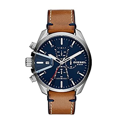 Diesel Men's Chronograph Quartz Watch with Leather Strap DZ4470