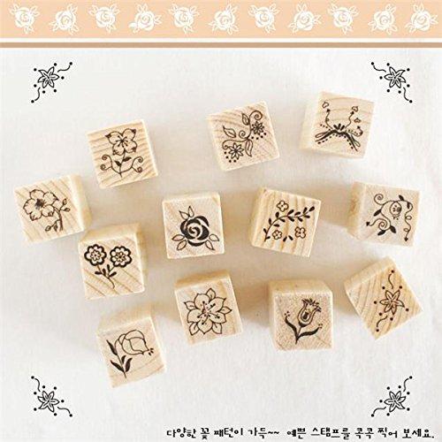 yongse-12pcs-box-de-bricolaje-de-madera-del-sello-de-goma-conjunto-de-cierre-flor-diario-scrapbookin