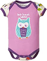 LBH by Hatley Baby Girls 0-24m Infant Envelope Neck One Piece Party Owls Bodysuit