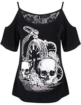 Banned Totenkopf hexe Damen Top