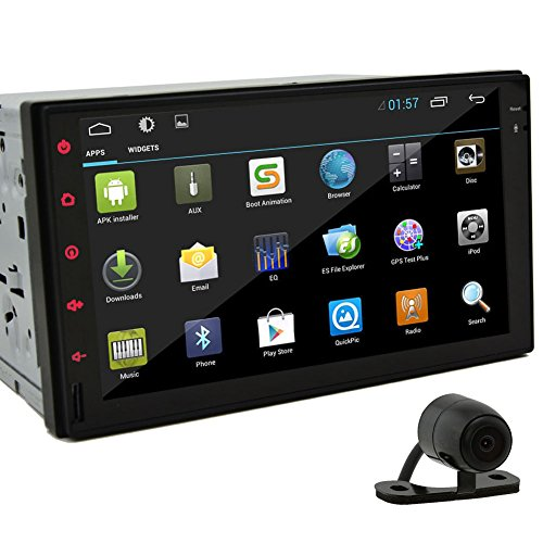 7-Zoll-Tablet-Autoradio Android 4.2.2 Jelly Bean-Doppel-DIN In Dash HD kapazitive Multi-Touch-Screen-Auto-No-DVD-Spieler GPS Navigation Stereo AM / FM Radio Unterst¨¹tzung Bluetooth / SD / USB / iPod / AV-IN / 3G / Wifi / DVR mit R¨¹ckfahrkamera als Geschenk (Jelly Bean Tablet Android)