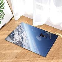 fdswdfg221 Tapis Sport par Extreme Sports Parachutisme Ciel Nuage Donne sur  La Terre Paillasson Antidérapant Étage eb52c3c9175