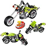 FunBlast Decool 3109 Architect Series 3 in 1 Harley Cruiser Building Block Brick Educational DIY Toys for Kids – 129 Brick Pieces