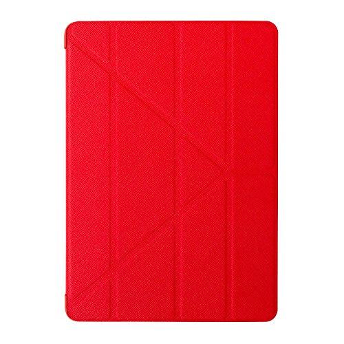 Preisvergleich Produktbild Ozaki O!Coat Slim-Y Versatile 360 Grad faltbare Tasche mit patentierter Standtechnik und On / Off Funktion für Apple iPad Air 2 rot
