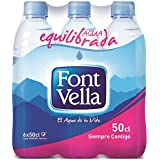 Font Vella Agua Mineral Natural sin Gas - Pack de 6 x 500 ml - Total: 3000 ml