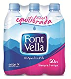 Font Vella Agua Mineral Natural sin Gas - Pack de 6 x 500 ml - Total: 3000 ml