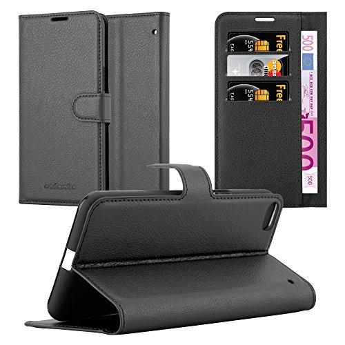 Cadorabo Hülle für HTC One X9 - Hülle in Phantom SCHWARZ - Handyhülle mit Kartenfach und Standfunktion - Case Cover Schutzhülle Etui Tasche Book Klapp Style