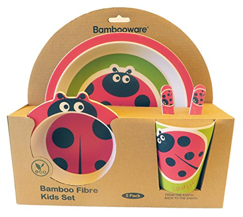 Vajilla de bambú bebé e Infantil, Material ecológico sin BPA. Varios Colores...