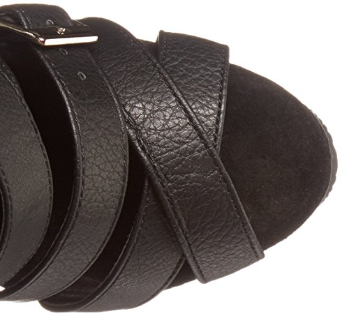 Pleaser DELIGHT-600-41, Sandali donna Blk Faux Leather/Blk Matte