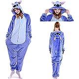 SunRlity Kostüme Unisex Kigurumi Lilo & Stitch Onesie Der Film Pyjamas Adult Teenager (Blue, M)