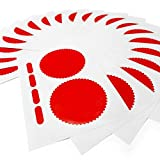 Company Seals 50mm Gloss Red Company Seal Stickers - 40 Labels