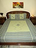 #4: Design Villa Multi color Patch Work Elastic Fitted 4 to 6 inch Matress Double Bedsheet With 2 Pillow Cover
