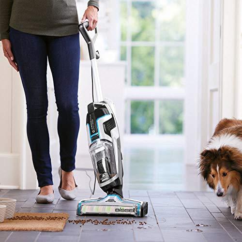 BISSELL CrossWave Pet Pro - Aspirateur/nettoyeur/sécheur 3-en-1 spécial animaux - pour sols durs et moquettes, secs et humides
