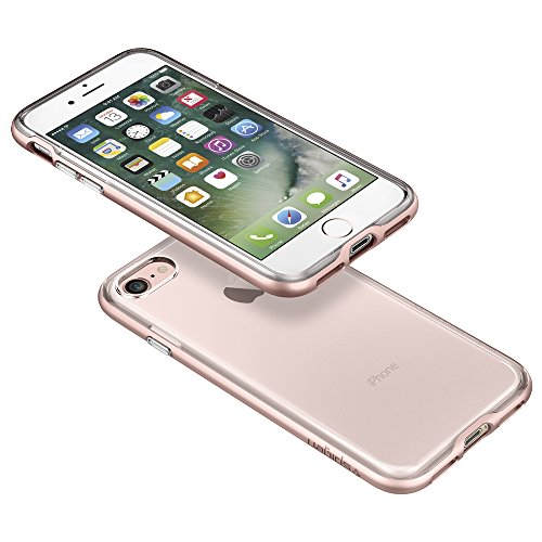 iPhone 7 Hülle, Spigen® [Neo Hybrid Crystal] Dual-Layer Schutzrahmen [Champagne Gold] 2-teilige Premium Handyhülle / Durchsichtige TPU Schale + PC Farbenrahmen Schutzhülle für iPhone 7 Case, iPhone 7  Rosa-Goldfarben, Transparent