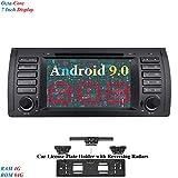 XISEDO 7 Zoll Bildschirm 8 Core Android 9.0 Autoradio RAM 4G ROM 64G In Dash Radio mit Navi Moniceiver DVD GPS Navigation für BMW 5-E39/BMW X5-E53 (mit Kfz-Nummernrahmen mit Rückfahrradar)