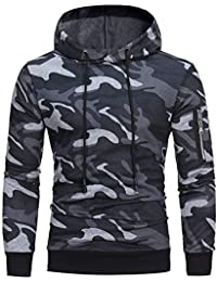 Eever Design Parfait – Sudadera con capucha para caballero, Cool camuflaje Hooded – Jersey slim