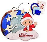 alles-meine.de GmbH Bastelset _ 3-D Effekt _ Papier Laterne / Lampion -  unser Sandmännchen  - incl. Name - zum Basteln / Laternenbastelset - für Kinder - Papierlaterne - Lampe..