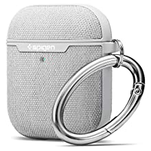 Spigen Urban Fit Designed for Apple Airpods 1 & 2 Case [Front LED Visible] - Gray