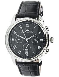 Lindberg&Sons LS12T110B3 - Reloj analógico automático para hombre con correa de piel, color negro