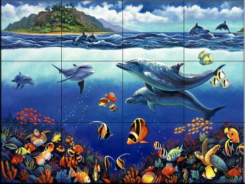 Johns Reef (Fliesenwandbild - Reef Serenade - von John Zaccheo - Küche Aufkantung / Bad Dusche)