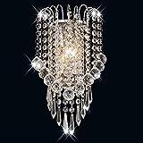 HhGold Crystal Wandleuchte Moderne Wohnzimmer Die Schlafzimmer Nachttischlampe Flur Walking Stairs im Hotel Projekt LED Wandleuchte E14 (Farbe : -, Größe : -)
