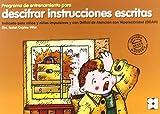 Programa de entrenamiento para descifrar instrucciones escritas (Estrategias Para Aprender)