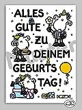 21 – Geburtstagskarte – Alles Gute - Postkarte von Sheepworld