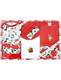 WonderKids 13 Piece Unisex Baby's Gift Set (Red)