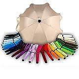 BAMBINIWELT Sonnenschirm für Kinderwagen Ø68cm UV-Schutz50+ Schirm...