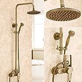 ETERNAL QUALITY Badezimmer Waschbecken Wasserhahn Messing Hahn Waschraum Mischer Mischbatterie Tippen Sie auf Armaturen Kupfer Antike Badezimmer Armaturen Set antiken Wand Dusche k