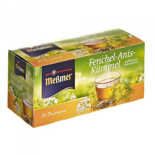 Meßmer Fenchel-Anis-Kümmel 25 Teebeutel - 12 Packungen