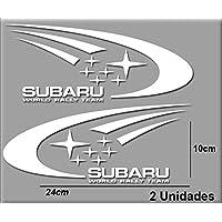 PEGATINAS SUBARU R106 VINILO ADESIVI DECAL AUFKLEBER КЛЕЙ STICKERS CAR VOITURE SPORT RACING (BLANCO/WHITE)