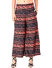 NITIKALI Ladies Printed Poly Crepe Palazzo With Short Style Inner Lining