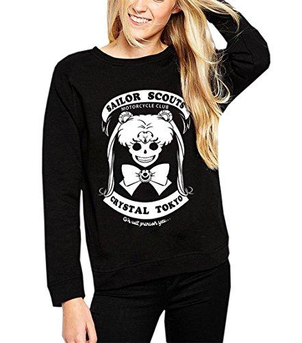 Fair-isle-pullover Mit V-ausschnitt (JOTHIN Damen Pullover Herbst Kurz Madchen Sweatshirt Druck Langarm-Top Bluse (S, Schwarz))